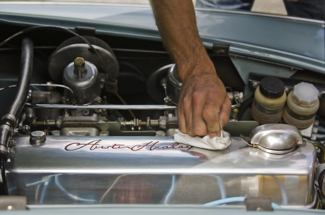 Austin Healey Engine Block, Clean engine bay, Classic Motoring, Austin Healey Mk II 110s