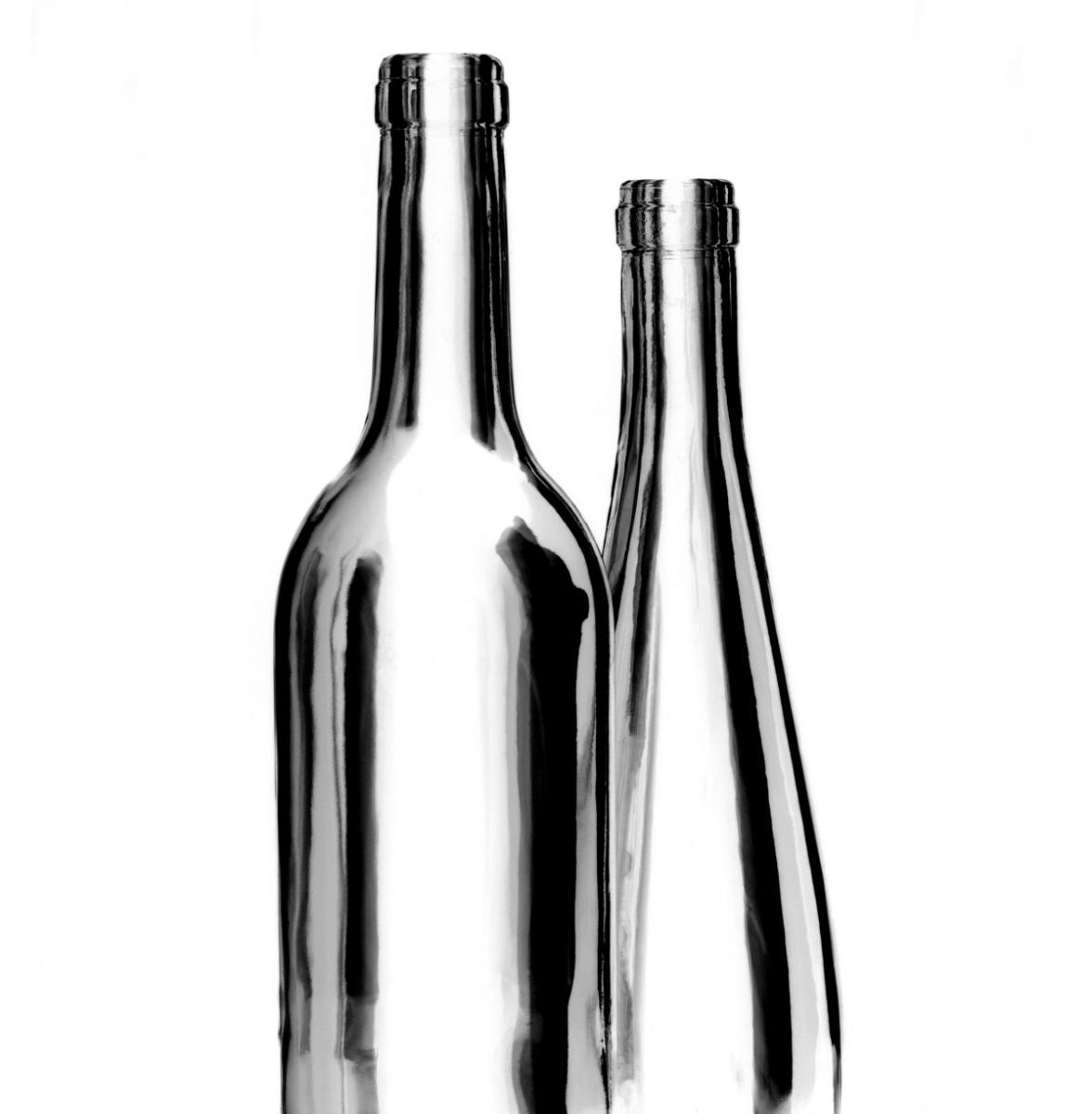 Glass Figures Collection, Man and Wife, Black and White, Bottles, Wine, Vino, Vinho, Botellas, Arte, Limited Edition Prints Marbella