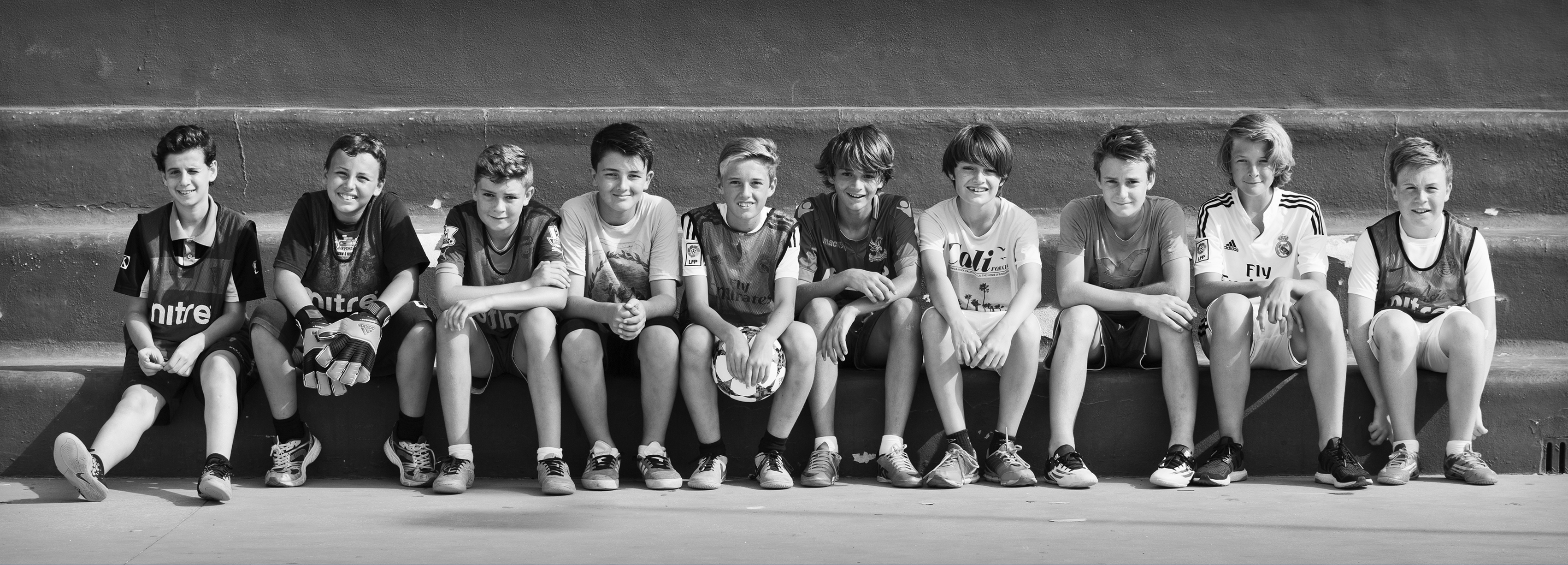 Cristian, Luis, Miles, Nicholas, Lloyd, Seb,Tarron , Tarik , Live, Sunny, Birthday Portraits, Footballers in the making, Football Party Marbella.