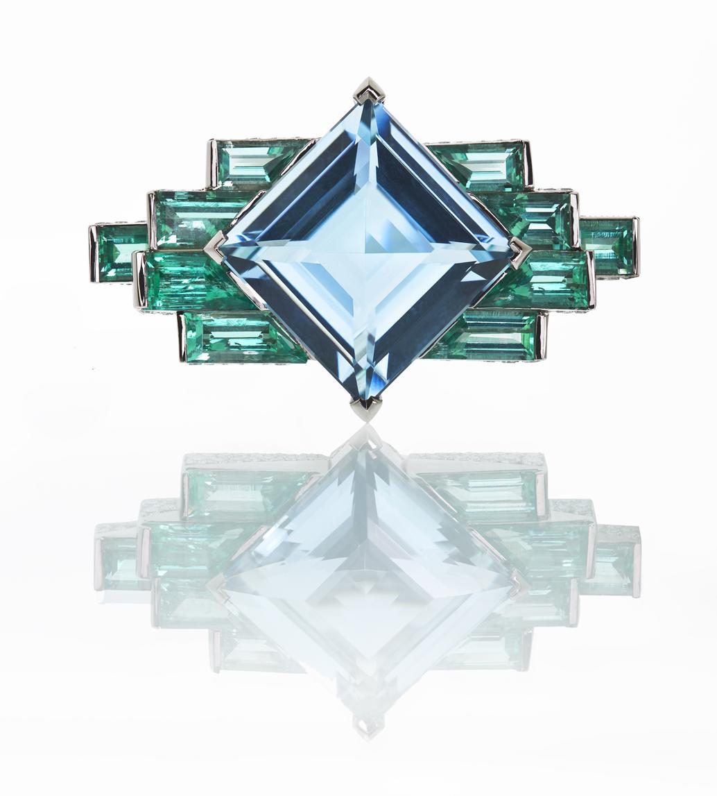Antonio Seijo Architectural Ring, ASeijo Marbella, Aqua Marine, Emeralds, Jewellery Marbella, Jewellery Photography