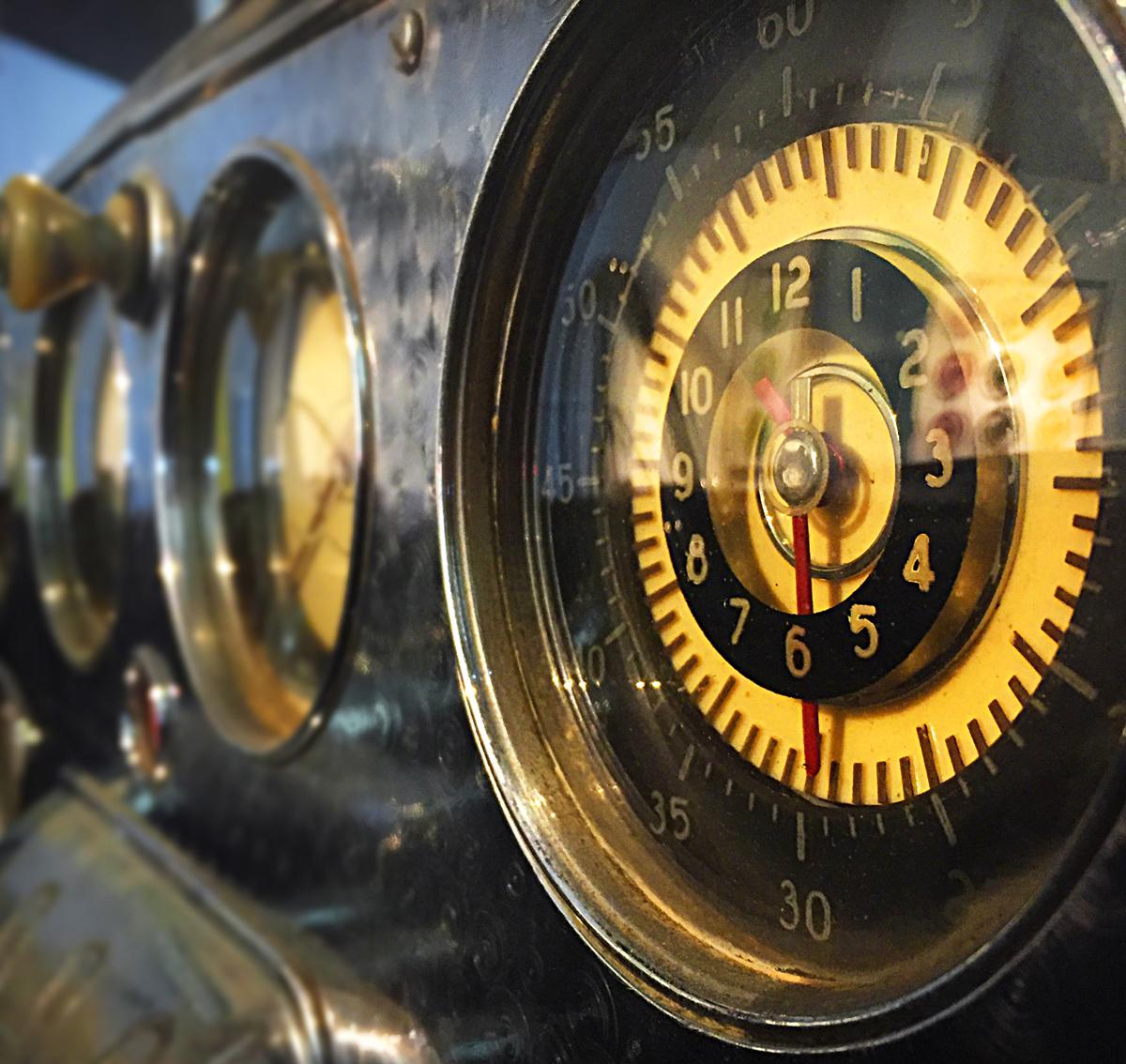 Classic Car Dash Instruments, Malaga Car Museum, Malaga, Photography