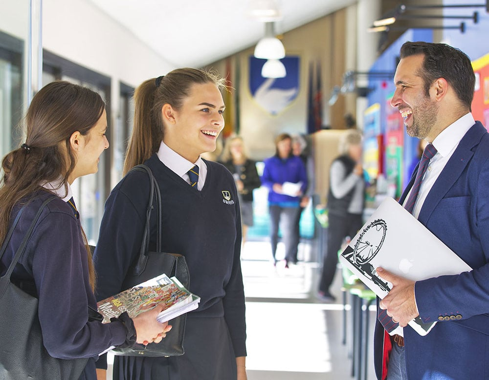 School Prospectus photography, Students with Headmaster, School uniform, GCSE students Spain, GCSE Students Marbella, Swans International School, Marbella Schools, best school in Marbella, Top education results Marbella, Exam Results Marbella,Head teacher, iMac at School, Swans Marbella