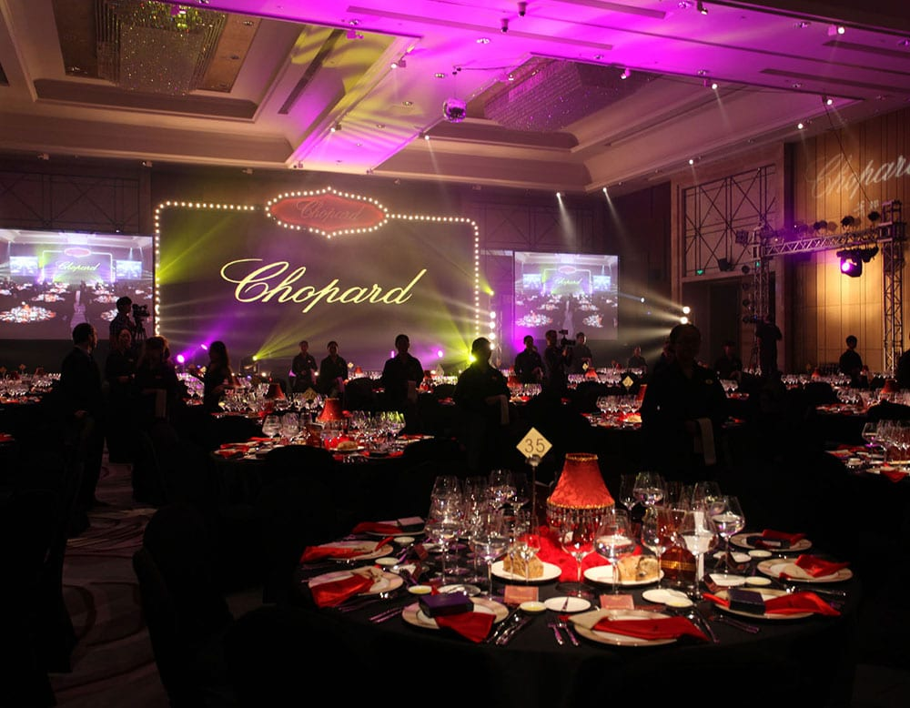 CHOPARD Gala Dinner, Hainan Boat Fair, Sanya CHINA, Event photography, Gala dinners, waiters,