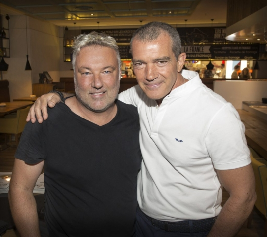 Antonio Banderas in Marbella with Gary Edwards Photographer