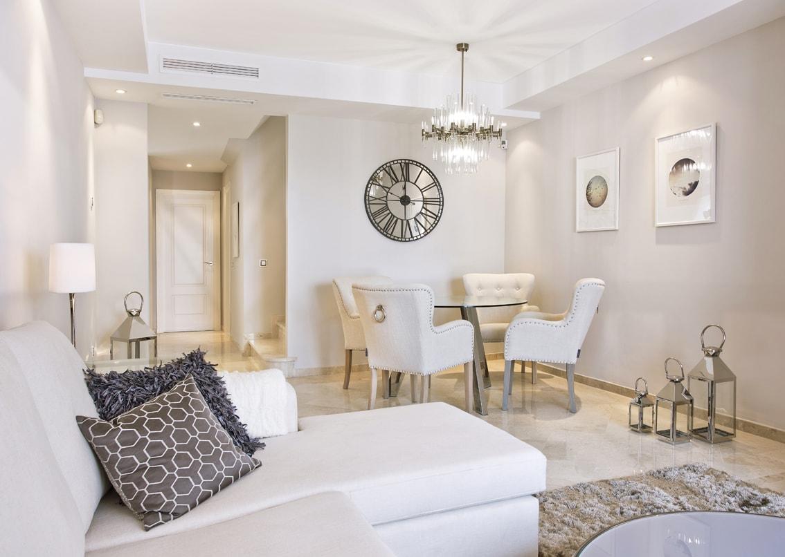 Showfalt, Asset Folio, Beige, Furniture packages, Modern living, holiday homes, Marbella bolthole, Puerto Banus flat