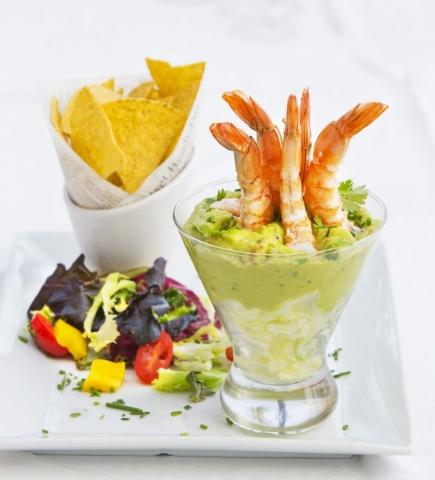 Prawn Cocktail 21 Century, Prawns, Sunset beach Club Benalmadina, Food, Restaurant, what is the food like at Sunset Beach, Good Food, Modern Culinary