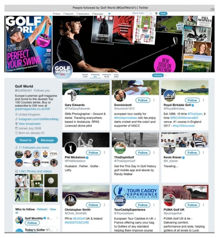 Twitter Feed, Golf World Magazine, Royal Birkdale, Phil Mickleson