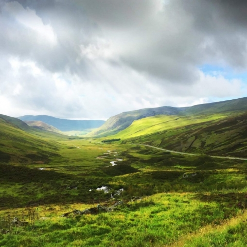 Braemar, Old Military Road, SCOTLAND, views of A939, A93 Scotland, sun breaking through clouds, best images of Scotland