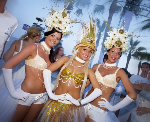 White Party, Nikki Beach Marbella, Hot Chics Marbella