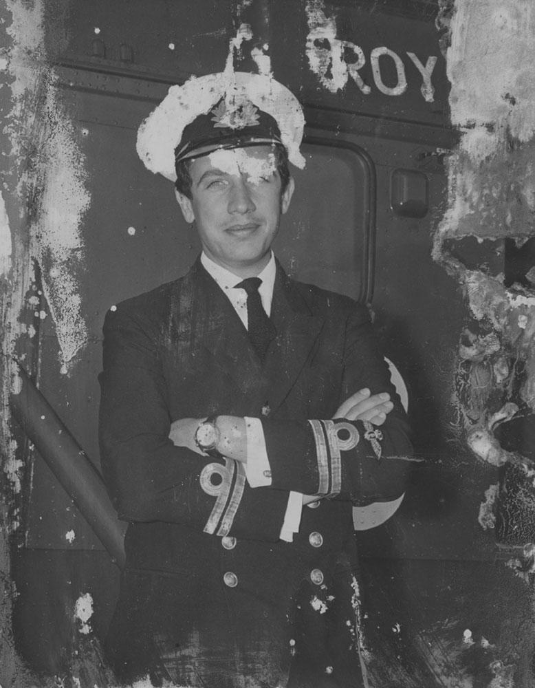 Photo Retouching Service Marbella, photo restoration, sepia prints, Royal Navy Capatin, digitalising old photos