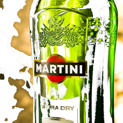 Martini, Wall Art, Aluminium Base, Glass Art, Vespa Martini, Martini Extra Dry