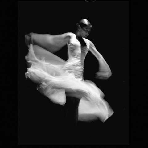 Flamenco, Dance, Black and White