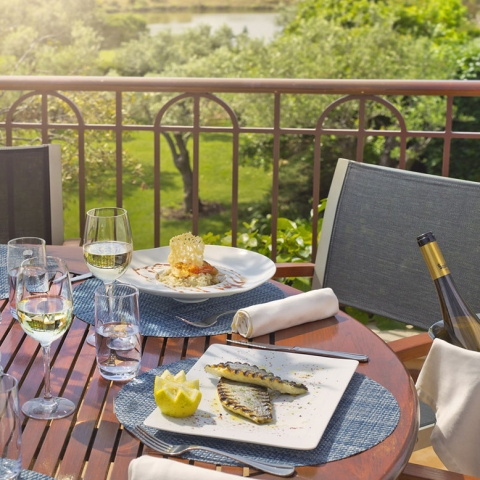 Lunch on the Club House Terrace, Monte Rei Golf and Country Club,
