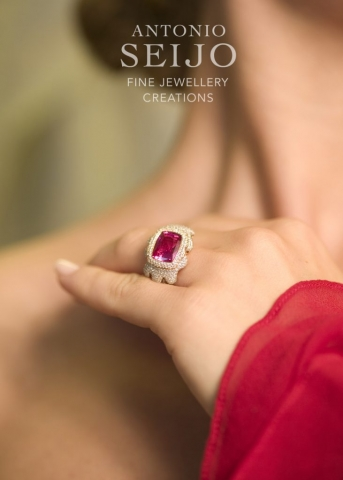 Kira, Antonio Seijo Advert · Red Spinel and Diamonds, Fine Jewellery Creations