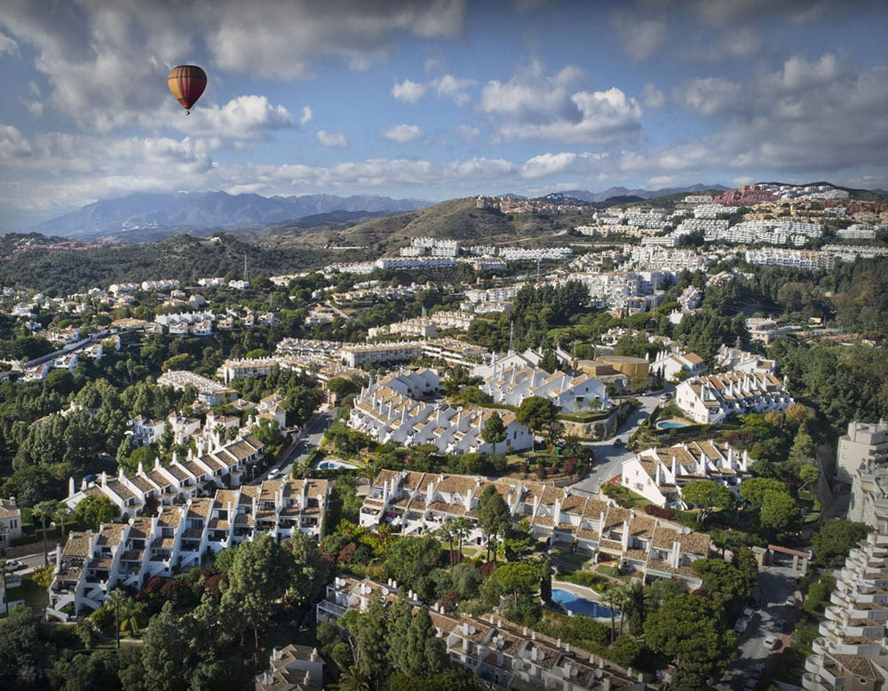 Drone Photography, Air balloon, Monte Paraiso Calahonda, Spanish Urbanisations, Mijas Costa, Birds-eye view