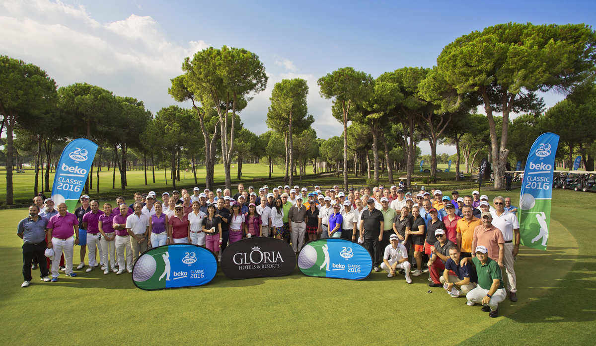 Pro-Am Golf Event, Group Photo, Beko Golf, Belek, Antalya, Beko, David Claire, Andrew McNabola, Gloria Golf Resort