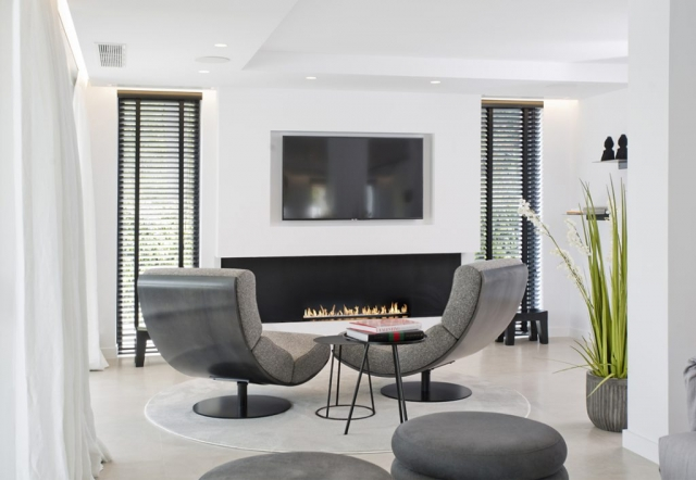 Interior design, Marbella, Puerto Banus, Aloha Golf, Rebuild, Cosy, Modern Fireplace, relaxing interior