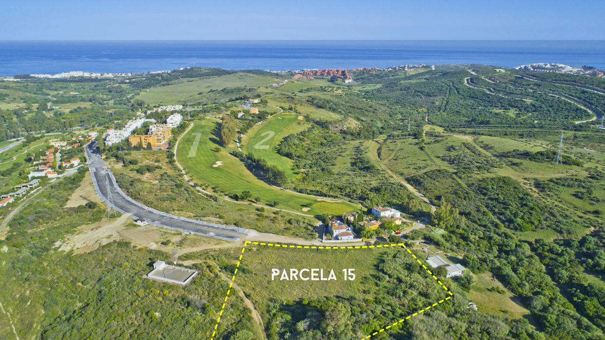 Drone Plot Planning, Golf Course Developments, Aerial views, Parcelas, Estepona Golf