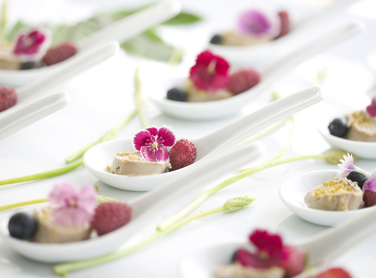 Foie and Raspberry Canapés, Nikki Beach Marbella 20 Years
