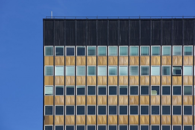 Graphic Architecture, Clean Lines of the 70's, Buenos Aires, Office Building, Window Blinds