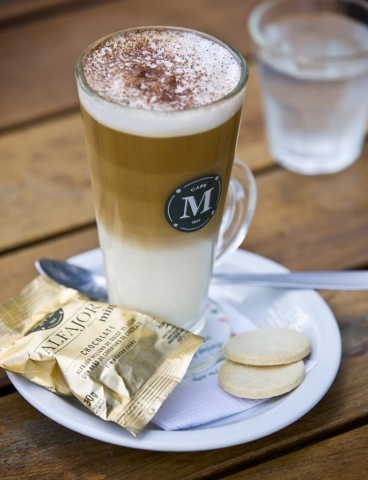 Coffee and Alfajor Biscuit, Cafe Martinez, Buenos Aires, Argentina