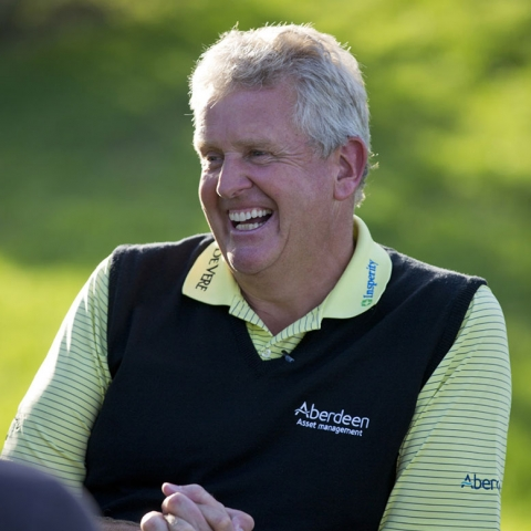 Colin Montgomerie OBE, 5 times runner up in Major Golf Tournaments,