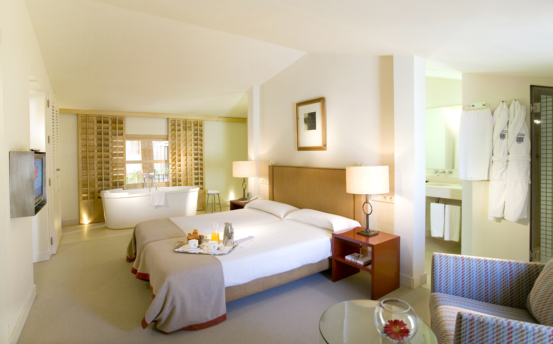 Hotel bedroom with bath, Breakfast in bed, Sotogrande Hotel, Hotel Marina Soto, Valderrama Golf Hotel