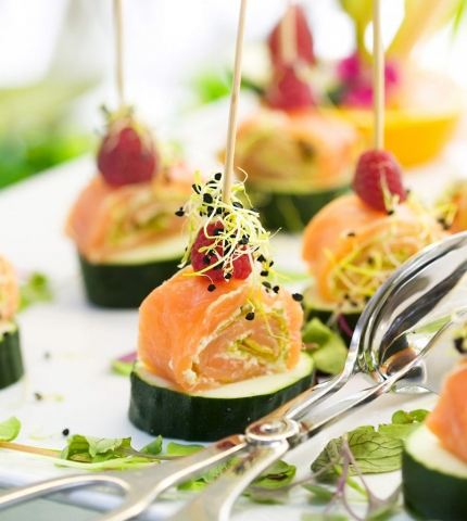 Salmon Canapés, Nikki Beach menu, Marbella, Summer Food