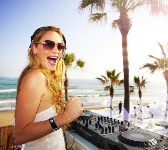 Olga Ryazanova, AKA DJ Sexation, DJ, Nikki Beach