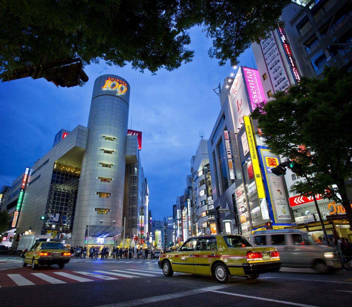 Tokyo, Shibuya Downtown, JAPAN, Shibuya 109, Tokyo taxi, Tokyo at night, Shibuya nightlife
