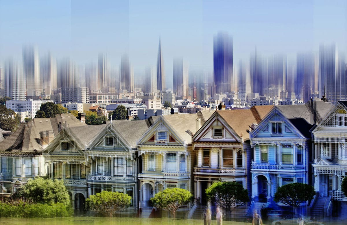 Painted Ladies San Francisco, Wall Art