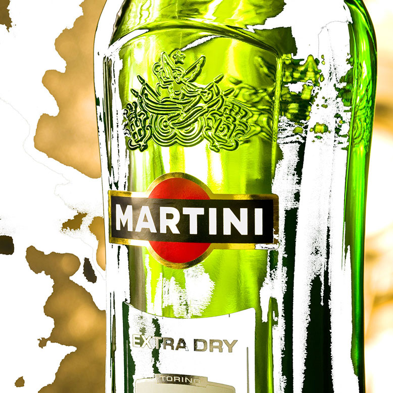 Martini, Wall Art, Aluminium Base, Glass Art, Vespa Martini, Martini Extra Dry