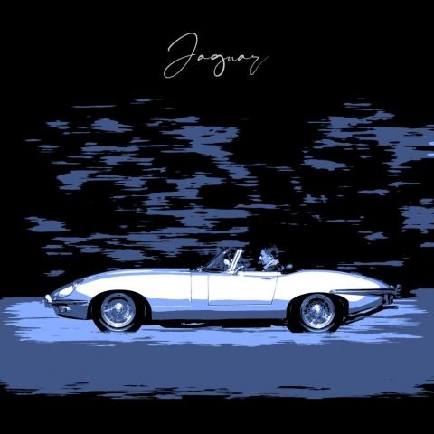Portrait Car Jaguar XKE Marbella Wall Art