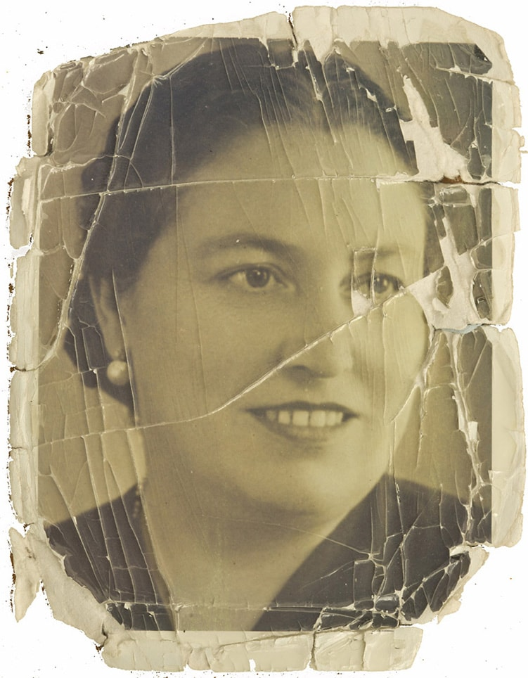 Restoration of Old photographs, Great grandma photo, water damage photos restored