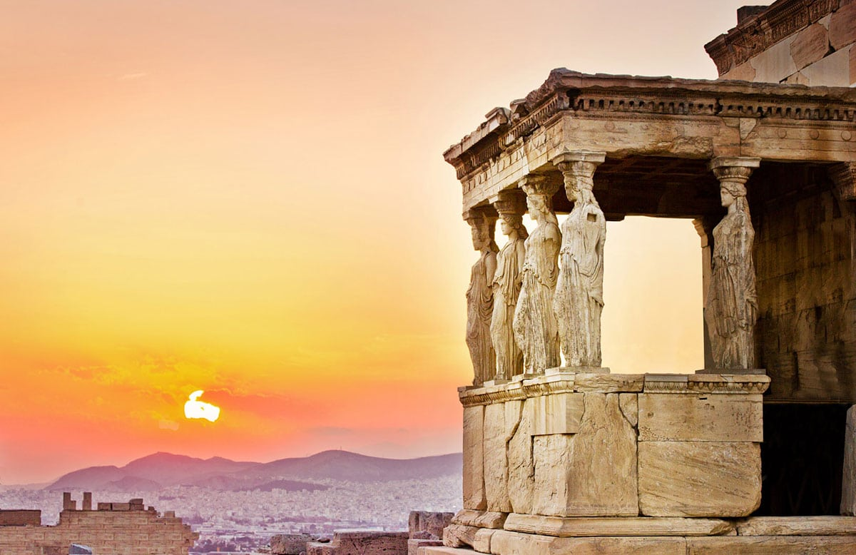 Athens, Six Sisters at the Acropolis, GREECE, travel photography, Gary Edwards, sunset over Athens