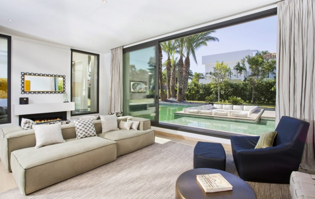 Swimming pool, boat effect, interior, marbella style, luxury